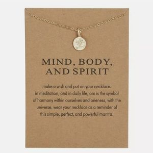 """New """"Mind, Body and Spirit"""" Pendant Chain Necklace"""